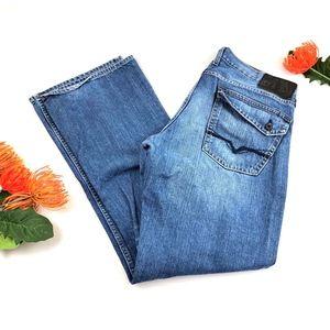 Guess Falcon Blue Jeans Regular Boot Cut 36 X 31